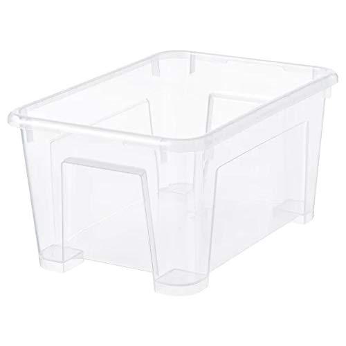 IKEA SAMLA Box mit Deckel; transparent; 5 Liter; (28x20x14cm)