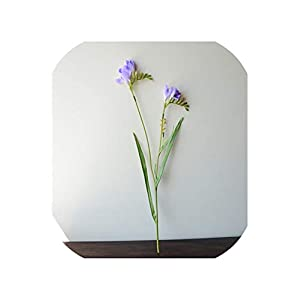 NA 7Pcs Silk Freesia Orchid Artificial Flowers Home Garden Fake Vase Flower Christmas Wedding Party Decoration 60Cm Long Plants,Light Purple