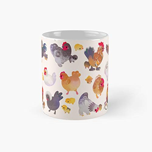 Chicken and Chick Classic Mug | Best Gift Funny Coffee Mugs 11 Oz