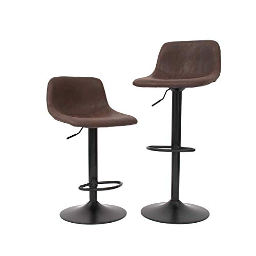 CangLong Bar Stools Swivel Barstool Chairs with Back, Modern Counter Height Adjustable for Pub...
