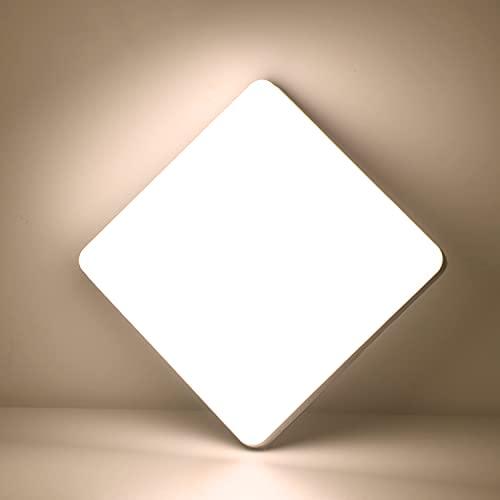 Kimjo LED Lampara de Techo 36W Blanco Natural 4500K, Plafon LED Techo Modern IP44 Impermeable para Baño, Luz de Techo Cuadrado Delgada para Cocina Dormitorio Sala de Estar Balcón Pasillo Ofici