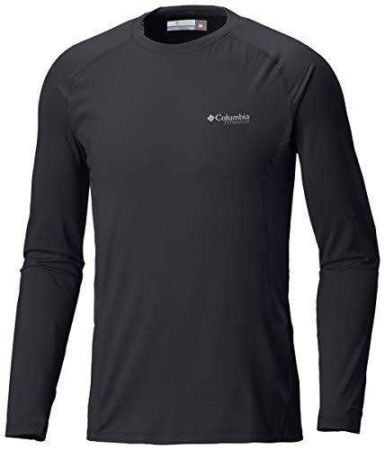 Columbia Sportswear Herren Omni-Heat 3D Knit Crew Top Longsleeve, Black, XXL