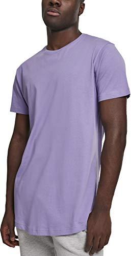 Urban Classics Herren Shaped Long Tee T-Shirt, Mehrfarbig (lavender), XL