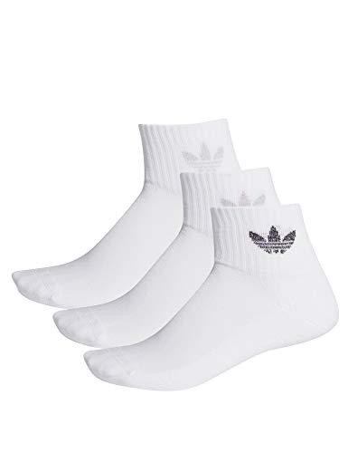 adidas Mid Cut Crew 3PP Socks White , M