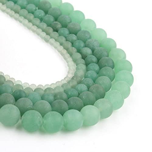 Borla Beads de piedra natural mate apagado polaco Agata Picasso Howlite Cubiertos de cuarzo para la joyería que hace bricolaje Pulsera Minerals Bead ( Color : Green Aventurine , Size : 12mm 30pcs )