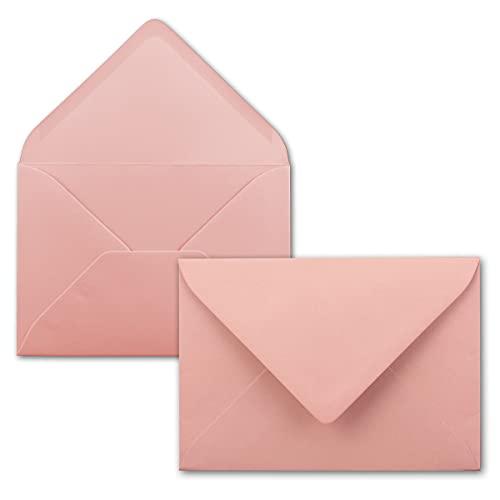 FarbenFroh Sobres de color rosa clásico, 50 unidades, DIN C5, 22,0 x 15,4cm, adhesivo húmedo, sin ventana, tarjetas de...