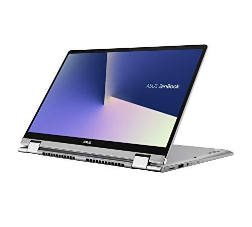 ASUS ZenBook Flip 14 UM462DA-AI701TS AMD Ryzen 7-3700U 14-inch FHD Touchscreen 2-in-1 Thin & Light Laptop (8GB RAM/512GB PCIe SSD/Windows 10/MS-Office 2019/Integrated Graphics/1.60 Kg), Light Grey