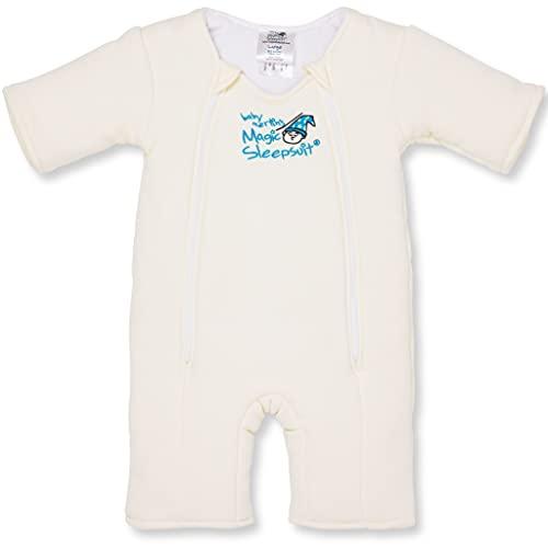 Baby Merlin's Cotton Magic Sleepsuit (Cream- 6-9 Months)