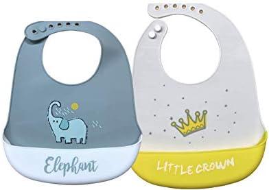 Silicone feeding Bibs for babies - Waterproof Bib Set - Easy wipe clean for toddlers.