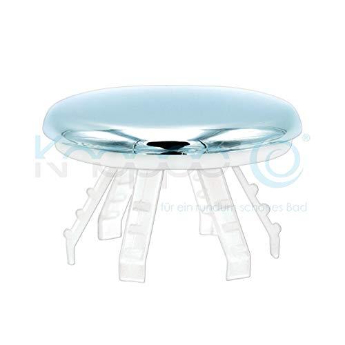 KNOPPO® Waschbecken Überlauf Abdeckung, Clip, Design Überlaufblende - Medi Cap (für Krankenhäuser, Ärzte und Pflegeeinrichtungen) chrom
