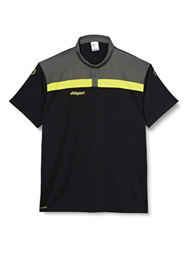 uhlsport Offense 23 Polo Shirt, T Uomo, Nero/Antracite/Giallo Lime, 4XL