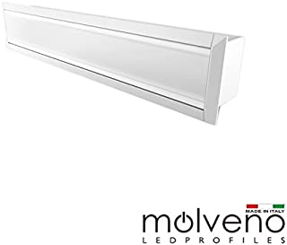 Molveno Lighting Diamante 33 Recessed Perfil de aluminio empotrado para LED - 2 metros - Blanco DM33R