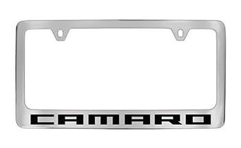 Personalized City Chevrolet Camaro Chrome License Plate Frame