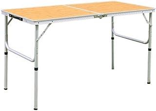 アウトドア 折りたたみ テーブル 120×60cm AL2FT-120 | 2WAY ピクニック アウトドア レジャー キャンプ ロースタイル 高さ 調整 可