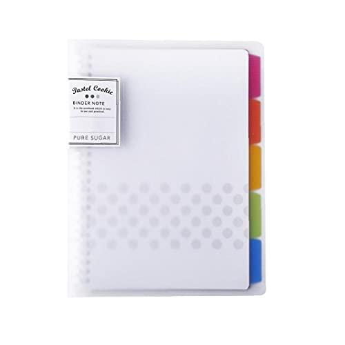 Twórczy Notebook Klasyczne Rzadzil Journal Luzna lisc Binder Notebook Diary dla chlopców i dziewczat RUCP11Y A5 Type Transparent 1szt kolorów, materialów biurowych dla pracowników biurowych i studentów