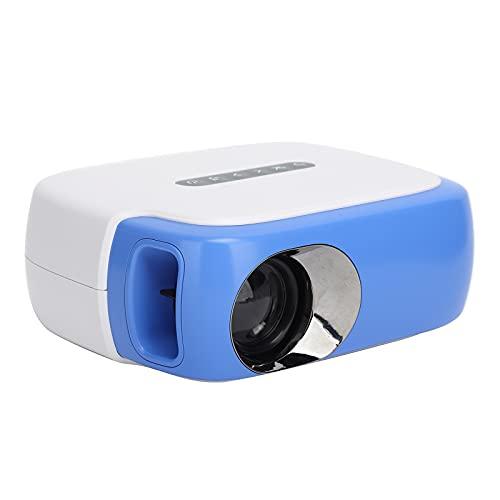 DR‑860 Mini Proyector LED de Video para Cine en Casa, 100‑240V 1000LM Videoproyector Portátil con Radiador para Oficinas, Multimedia Interfaces Videoproyector de Color Azul, Disco U DVD(Azul)