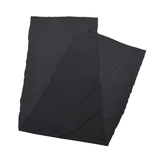 Richer-R Tela de Altavoz,Paño Suave de Malla para Speaker,Paño de Fibra Química Antipolvo Lavable,Tejido para Decoración de Sonido( Aprox. 1.7 * 0.5 m)[Negro]
