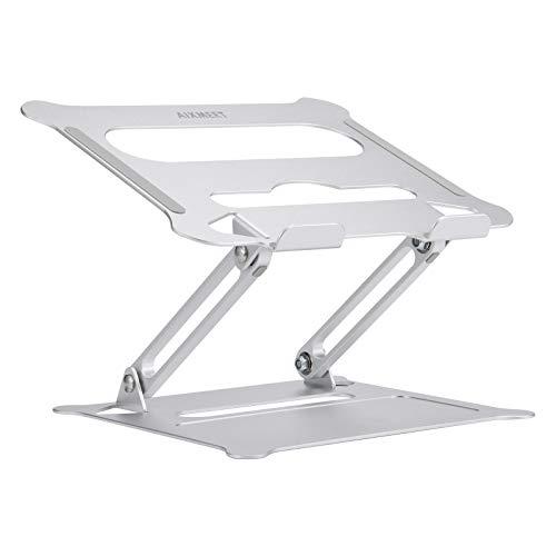 AIXMEET Soporte para portátil, Soporte multiángulo con ventilación de Calor, Aluminio, Soporte Ajustable para portátil, Compatible con portátil, MacBook Pro/Air, Surface, Samsung, HP