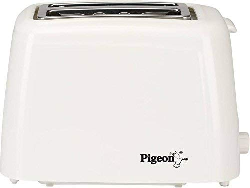 Pigeon 2-Slice Auto 700-Watt Pop-up Toaster (White)
