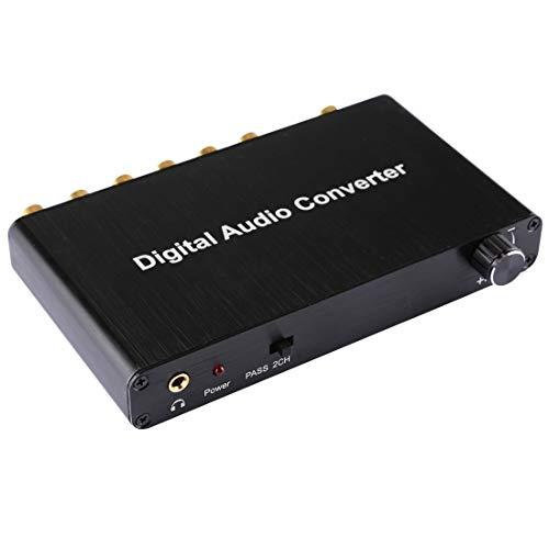 WXX 5.1 Canales de Audio Digital Decodificador Converter con óptica Toslink SPDIF...