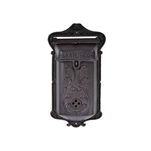 Garden Accessories Retro Style Waterproof Newspaper Letter Mailbox Post Cse Box Cast Iron Vintage Pastoral Home Wall Mailbox Single Speaker Weatherproof Traditional