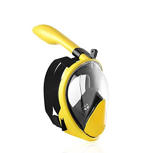 GQTYBZ Máscara de Snorkel de Cara Completa con Soporte de CáMara Desmontable, Sistema de Respiración Avanzado para Una Experiencia de Snorkel Segura para Adultos/Niños