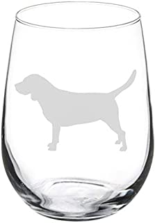 Wine Glass Stemless Laser Etched Beagle - 11 Oz