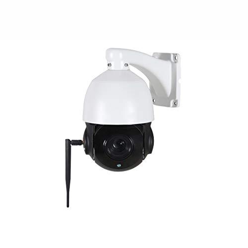 Dingziyue 1080P HD - Set de monitor inalámbrico para maquinaria de bola de 5 veces, zoom wifi, tarjeta de cámara de vigilancia exterior (color blanco)