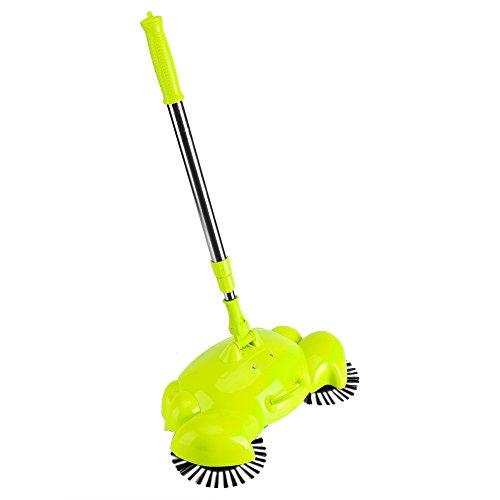 Yosoo Kehrmaschine Praktische Haushalt Hand Push Sweeper Besen 360 Grad drehbar Reinigung Maschine ohne Strom grün