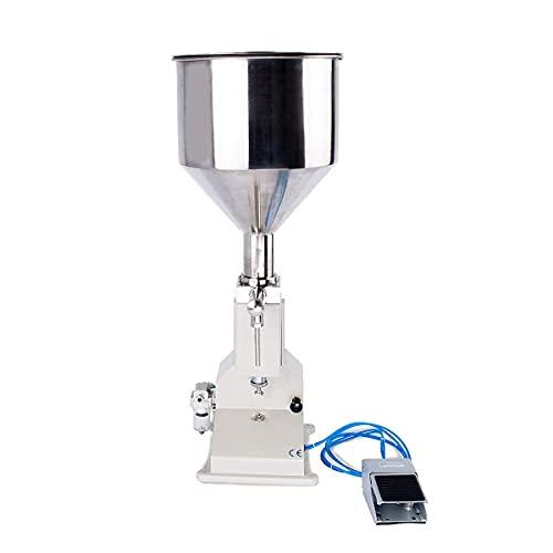 Fhdisfnsk Máquina Llenadora Neumática - Llenadora Botellas Llenadora de Pasta Líquida 5-50ml - Máquina Llenadora de Botellas para Agua, Aceite, Crema Líquida, Miel, Cuidado de La Piel 20 Veces/Min