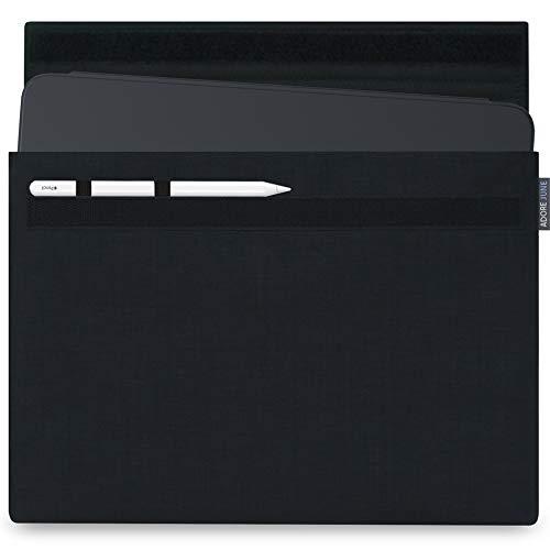 Adore June 12,9 Zoll Classic Schwarz Tasche kompatibel mit Apple iPad Pro 12.9 2020 mit Apple Pen Halterung