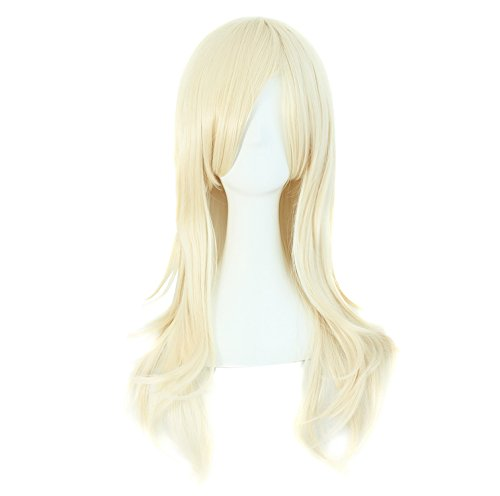 """MapofBeauty 28"""" 70cm Long Curly Hair Ends Costume Cosplay Wig (Light Blonde)"""