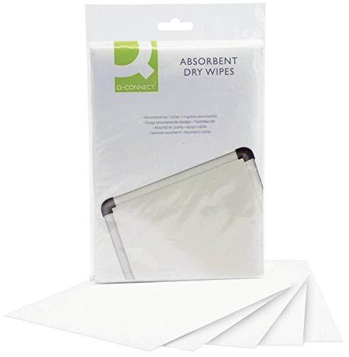 Q-Connect KF04506 toallita desinfectante 20 Pieza(s) - Paño de Limpieza (20 Pieza(s), Blanco, Bolsa)