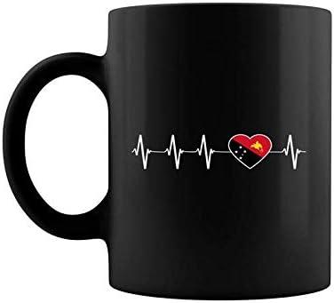 Papua New Guinean I Love Papa New Guinea Flag Heart Gift Coffee Mug 11 15 Oz product image