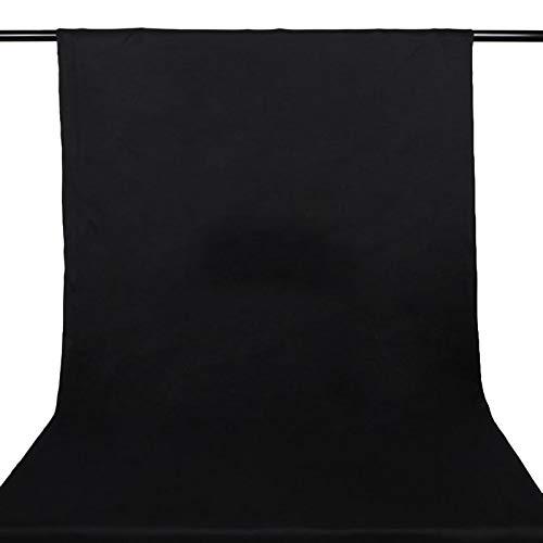 ZXC Fondo de muselina suave para estudio fotográfico, color negro con 4 clips, para fondo, fotografía, vídeo, televisión y juego en vivo (tamaño 3,8 x 1 m)