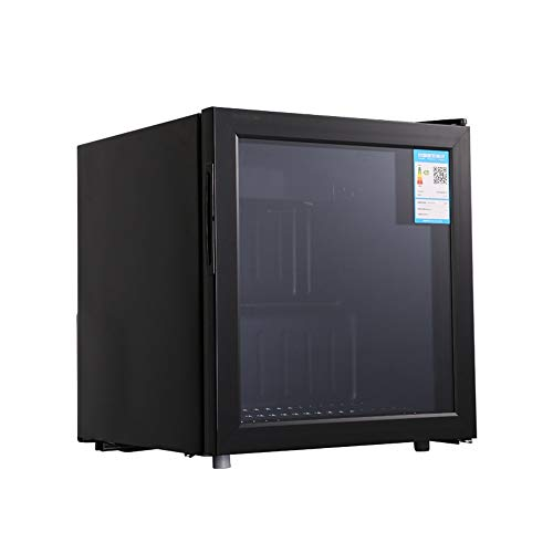 Rugged Cooluli Infinity, Refrigerated Skincare Fridge With Insulated Tempered Glass, Strong Resistance, Suitable For Apartment Hotels, Etc, Black