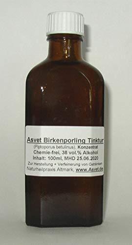 Asvet 50ml Birkenporling Tropfen, Ötzi-Pilz- Extrakt, Konzentrat, ganz frisch: MHD ca 1 Jahr, (GP = EUR 35,80/100ml)