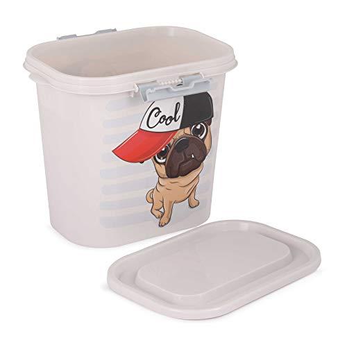 4BIG.fun 10L Tierfutterbehälter Futterbox Vorratsbehälter Container Versiegelungsbehälter Trockenfutterbehälter Aufbewahrungsbox Hund Dose