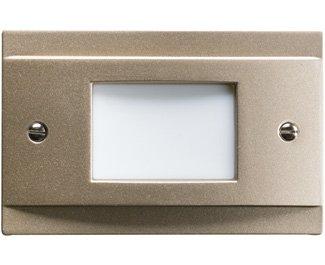 Kichler 12665NI Landscape Step, 4 Light LED 4 Total Watts, Brushed Nickel