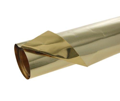 Clairefontaine Rollo de Papel de Aluminio de Doble Cara, Dorado, 50.0 x 2.5 x 2.5 cm