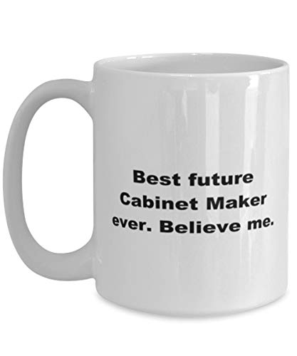 Lplpol Best Future Cabinet Maker Ever, White Coffee Mug for Women Or Men Coffee Mug for Christmas Thanksgiving Festival Friends Gift Present Large Mug 15oz