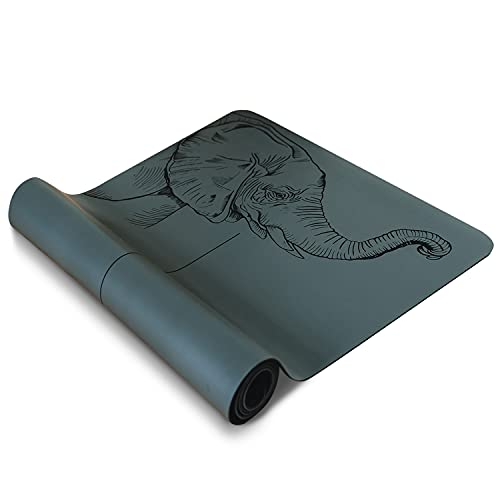 One Happy Yogi Yoga Mat Non Slip – 185 x 68cm Natural Tree Rubber Mat for Yoga, Pilates,...