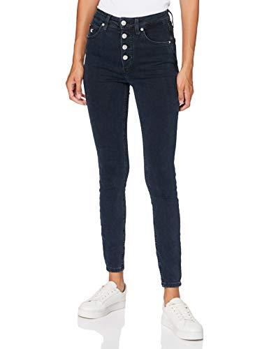 Calvin Klein Jeans Damen High Rise Super Skinny Ankle Hose, Denim, Ni29