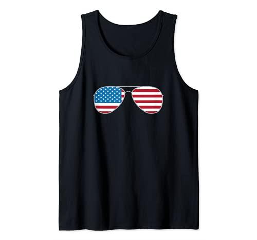 Biden 2020 Aviators Vote Biden Aviator Gafas de sol bandera de Estados Unidos Camiseta sin Mangas