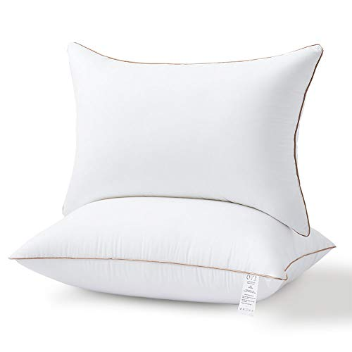 OVX Pillows for Sleeping Set of 2 Hypoallergenic Gel Hotel Pillows, Down Alternative -High Firm Support for Side/Back Sleeper --Queen
