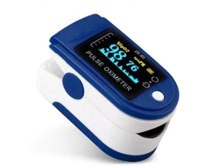 Oxímetro de dedo portátil profesional, 4 direcciones ajustables, pantalla OLED de 2 colores, medición SPO2, para uso doméstico, fitness y deporte