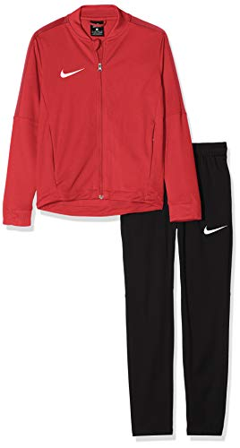 Nike Kinder Academy 16 Youth Knit Tracksuit Trainingsanzug, rot (University red/Black/Gym red/White), XL