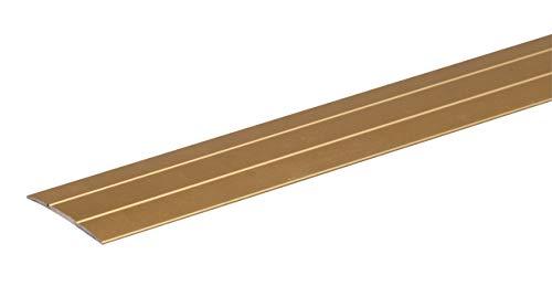 GAH-Alberts 491499 Übergangsprofil | selbstklebend | Aluminium, goldfarbig eloxiert | 900 x 38 mm