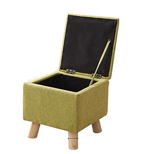 XinLuMing Change Storage Footstool Shoe Stool, Storage Stool, Multifunctional Padded footrest, Practical Ottoman Storage Stool, Highly Elastic Sponge Filling, Single Foot Stool (Color : B)
