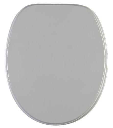 WC Sitz mit Absenkautomatik, hochwertige Oberfläche, einfache Montage, stabile Scharniere, Manhattan Grau